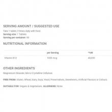 Applied Nutrition Vitamin B12 90 tabliet