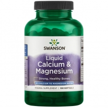 Swanson Liquid Calcium&Magnesium 100 softgels
