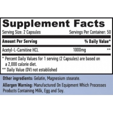 Haya Labs Acetyl L-Carnitine 100 kapslí