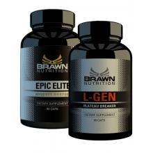 Stack Brawn Nutrition Epic Elite 90 kapslí+L-Gen 90 kapslí