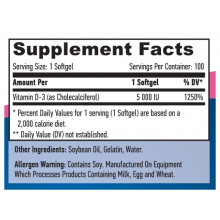 Haya Labs Vitamin D-3 100 softgels