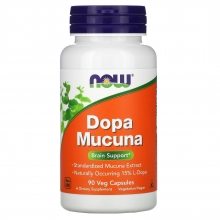 NOW Dopa Mucuna 90 kapslí