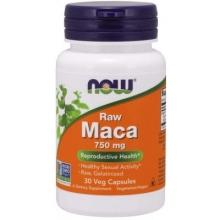 NOW Raw Maca 750mg 30 kapslí