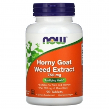 NOW Horny Goat Weed Extract 750mg 90 tabliet