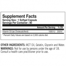 Tested Vitamín D 90 kapslí